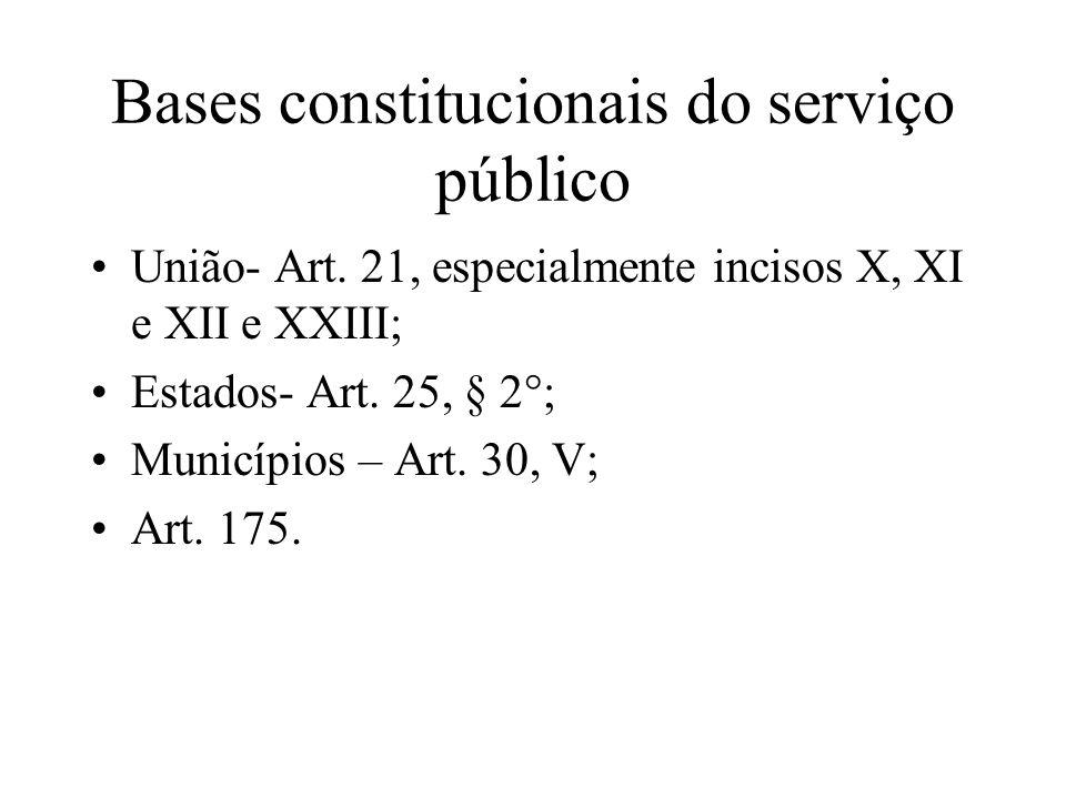Bases constitucionais do serviço público