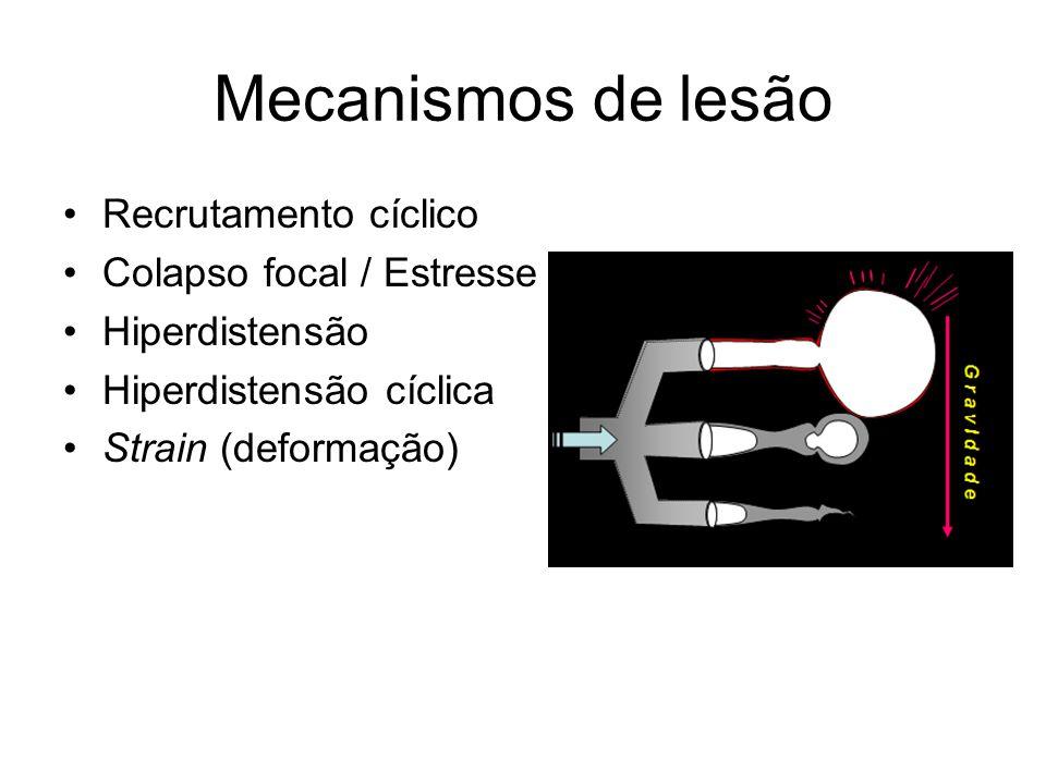 Mecanismos de lesão Recrutamento cíclico Colapso focal / Estresse