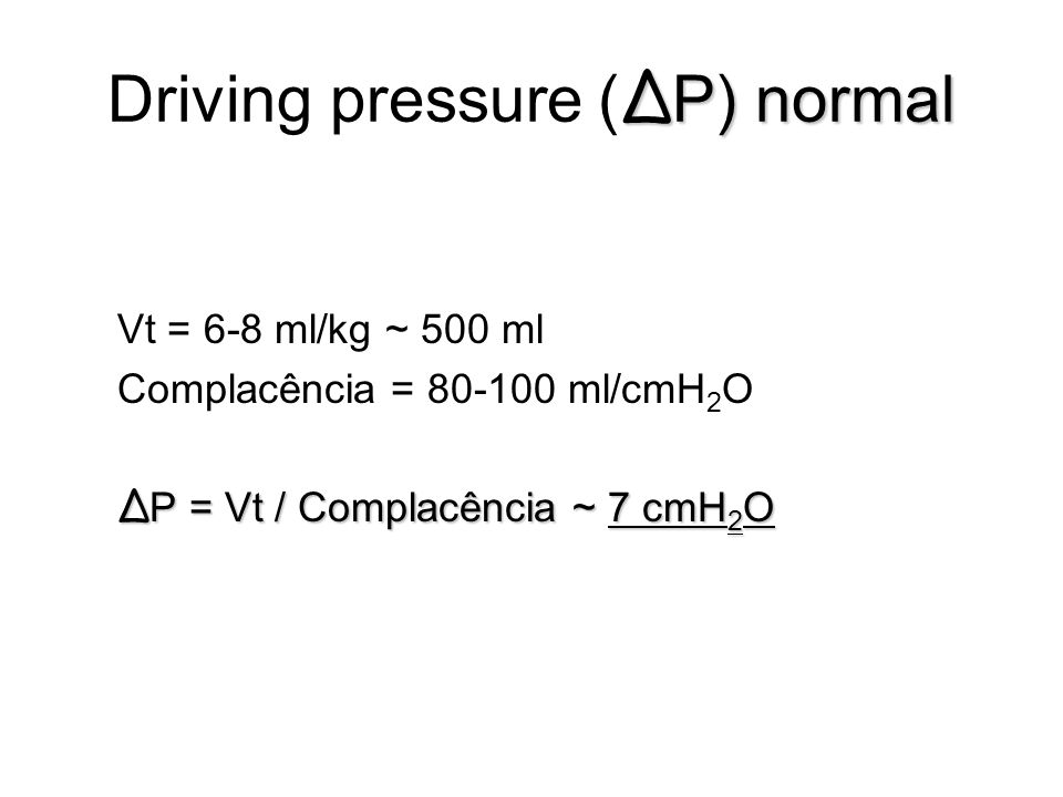 Driving pressure (ΔP) normal