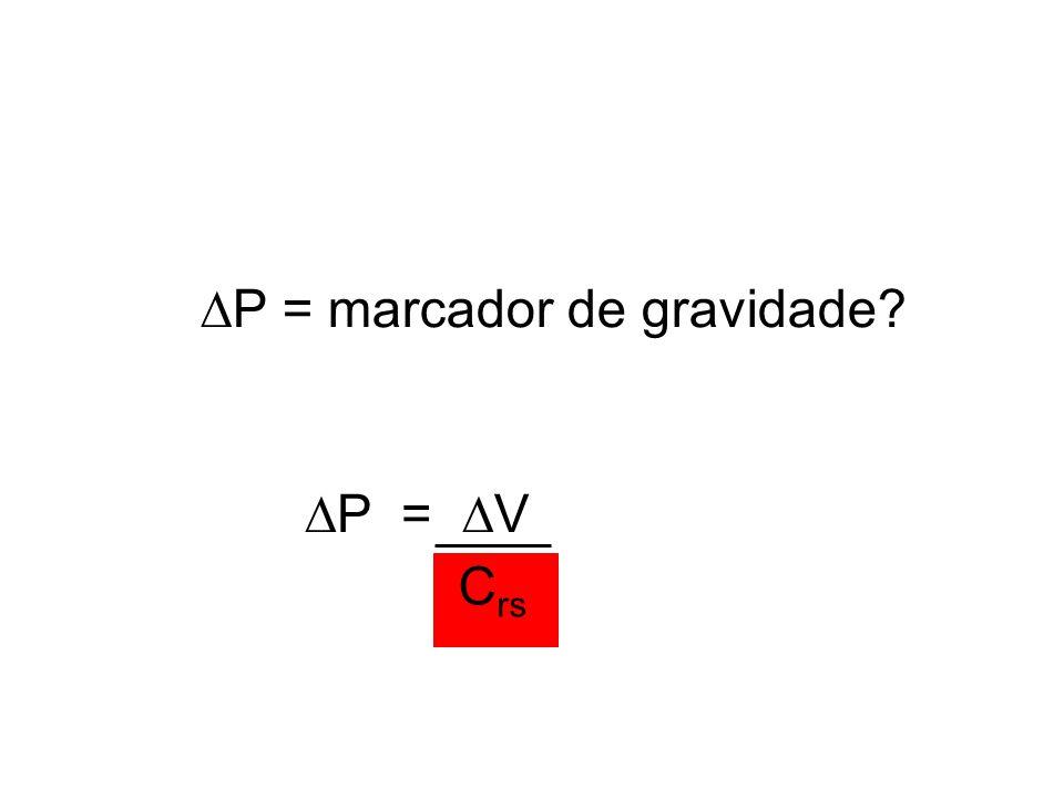 P = marcador de gravidade