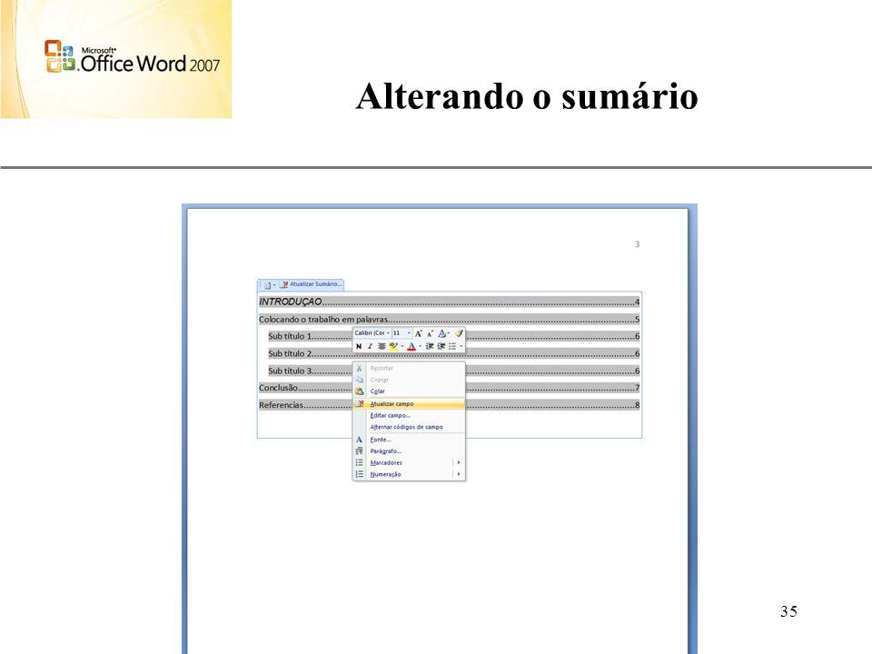 Alterando o sumário Aulas de Informática anndrepr@yahoo.com.br