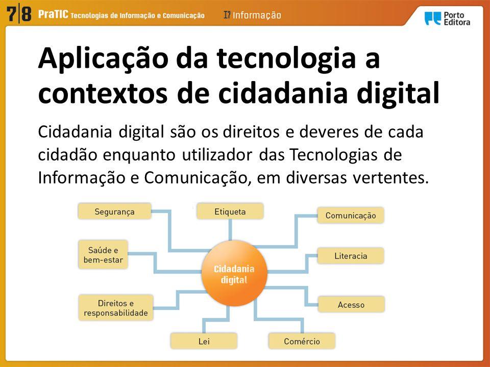 Aplicação da tecnologia a contextos de cidadania digital