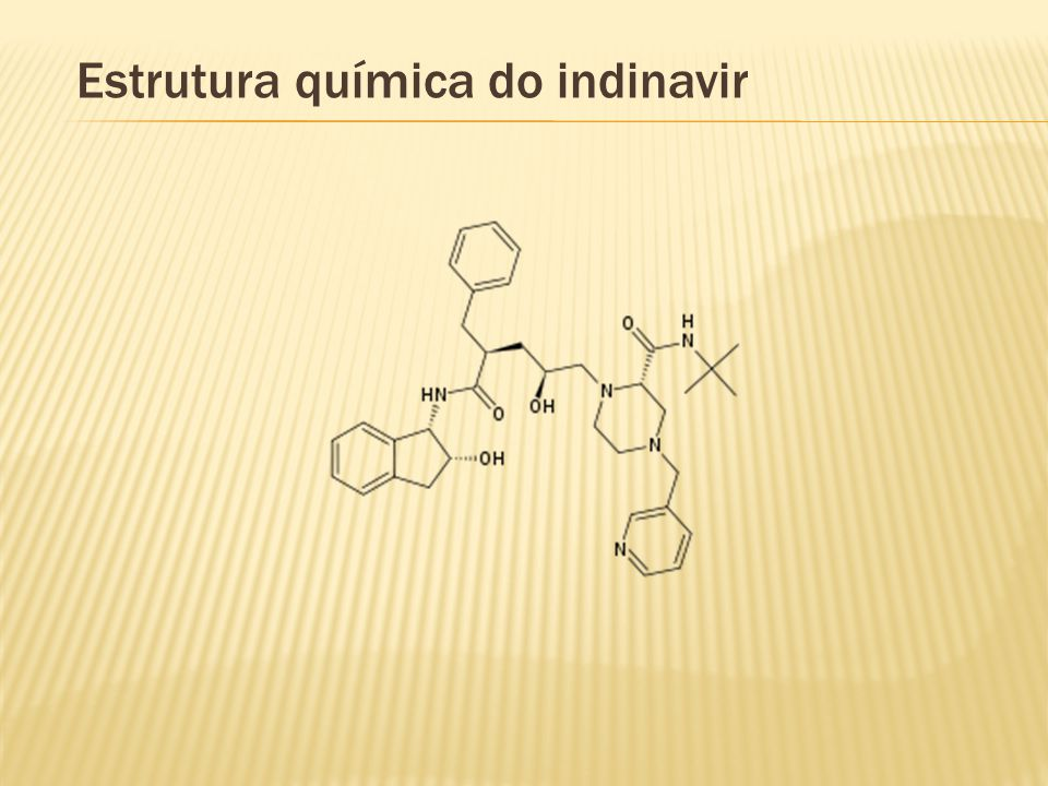 Estrutura química do indinavir