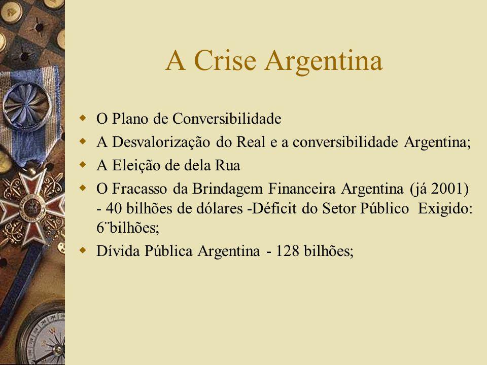 A Crise Argentina O Plano de Conversibilidade