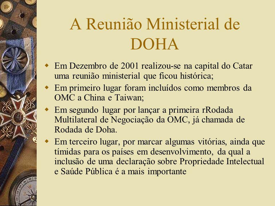A Reunião Ministerial de DOHA