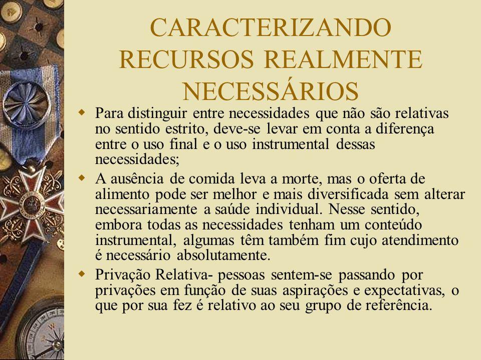CARACTERIZANDO RECURSOS REALMENTE NECESSÁRIOS
