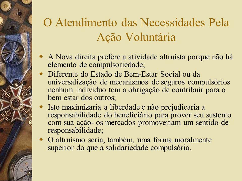 O Atendimento das Necessidades Pela Ação Voluntária