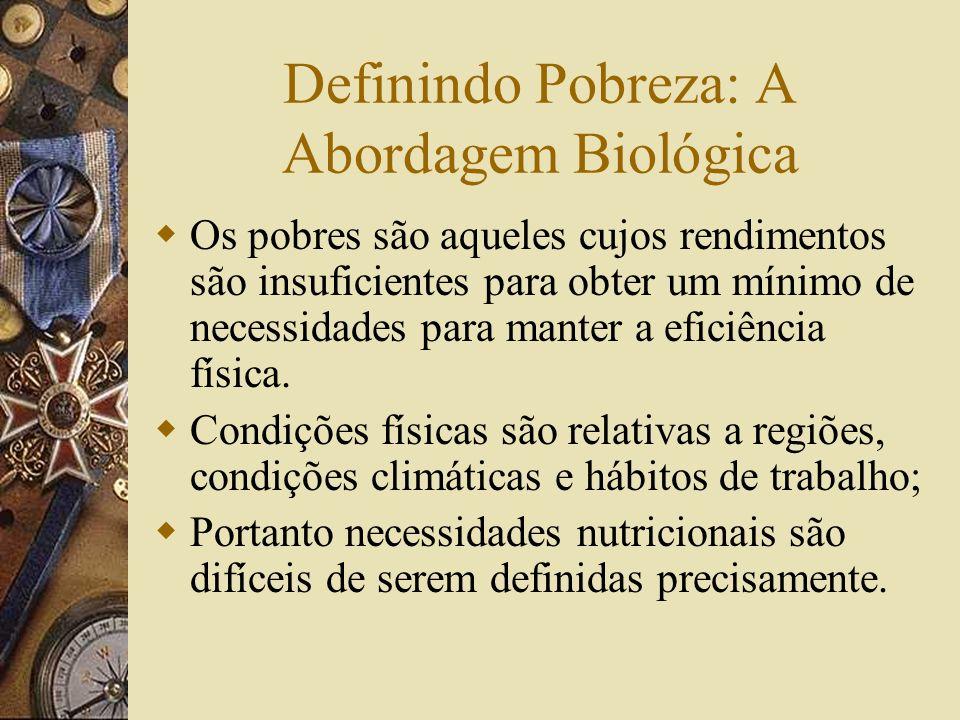 Definindo Pobreza: A Abordagem Biológica