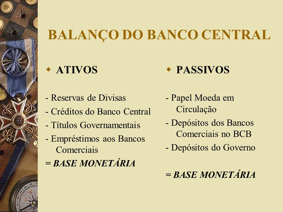 BALANÇO DO BANCO CENTRAL