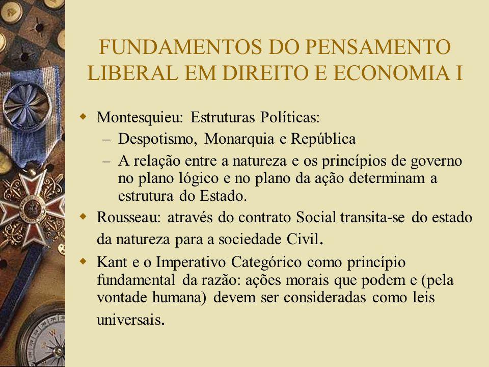 FUNDAMENTOS DO PENSAMENTO LIBERAL EM DIREITO E ECONOMIA I