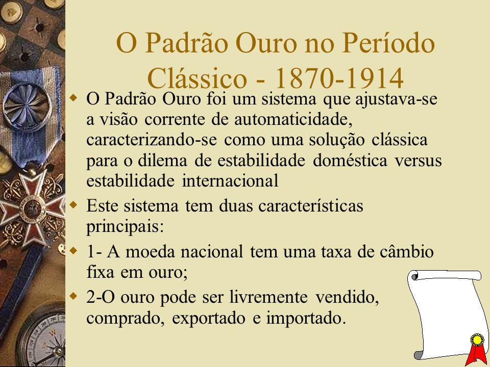 O Padrão Ouro no Período Clássico - 1870-1914