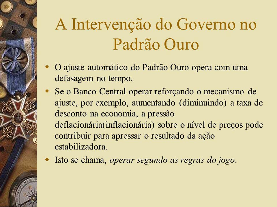 A Intervenção do Governo no Padrão Ouro