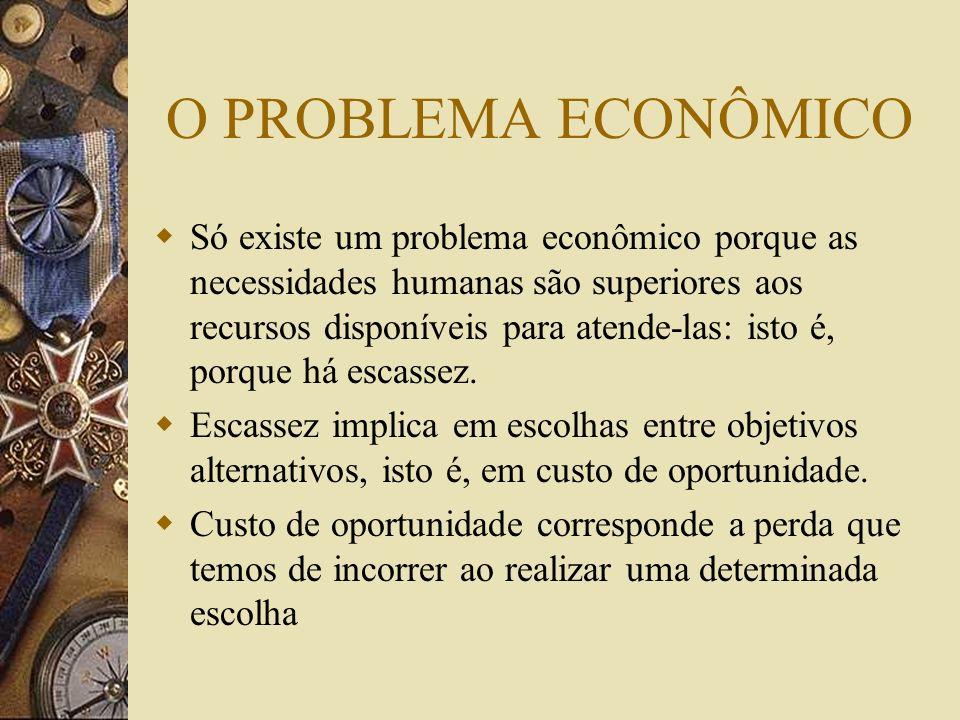 O PROBLEMA ECONÔMICO