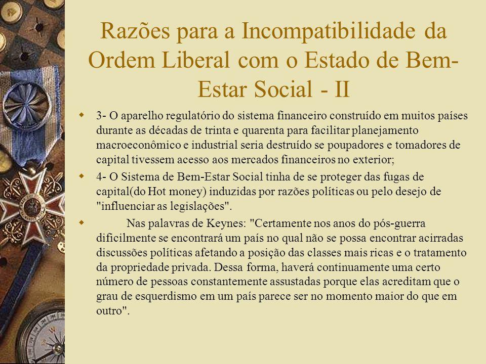 Razões para a Incompatibilidade da Ordem Liberal com o Estado de Bem-Estar Social - II