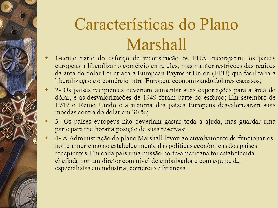 Características do Plano Marshall