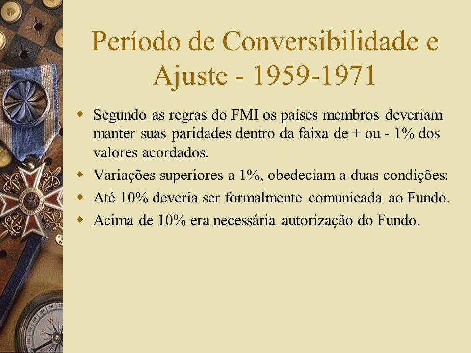 Período de Conversibilidade e Ajuste - 1959-1971
