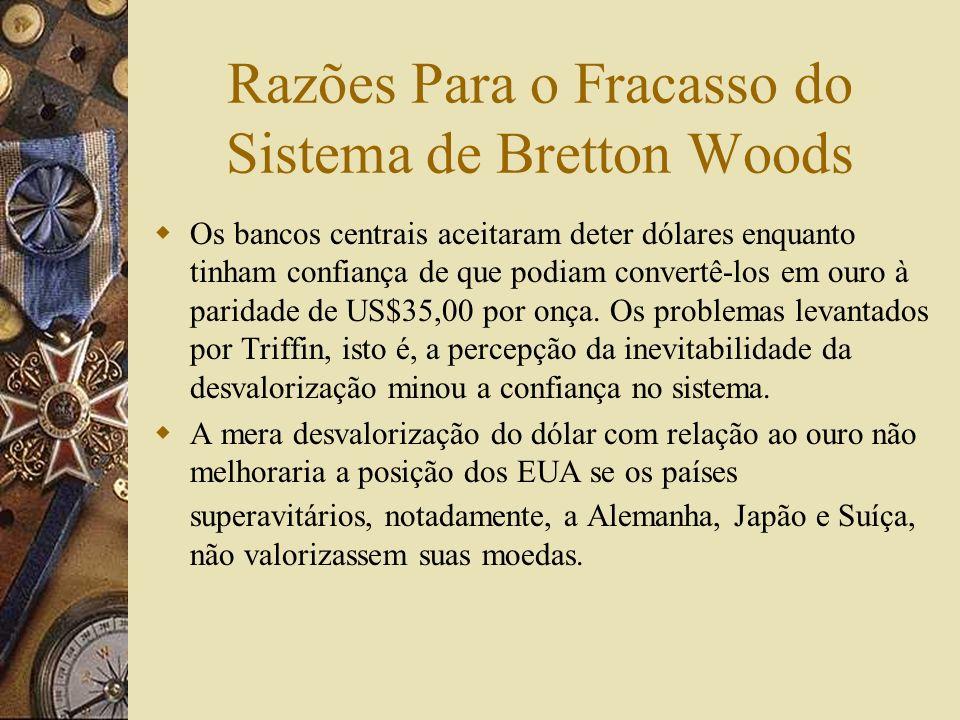 Razões Para o Fracasso do Sistema de Bretton Woods