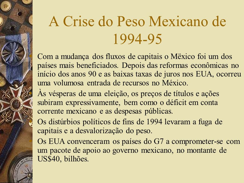 A Crise do Peso Mexicano de 1994-95