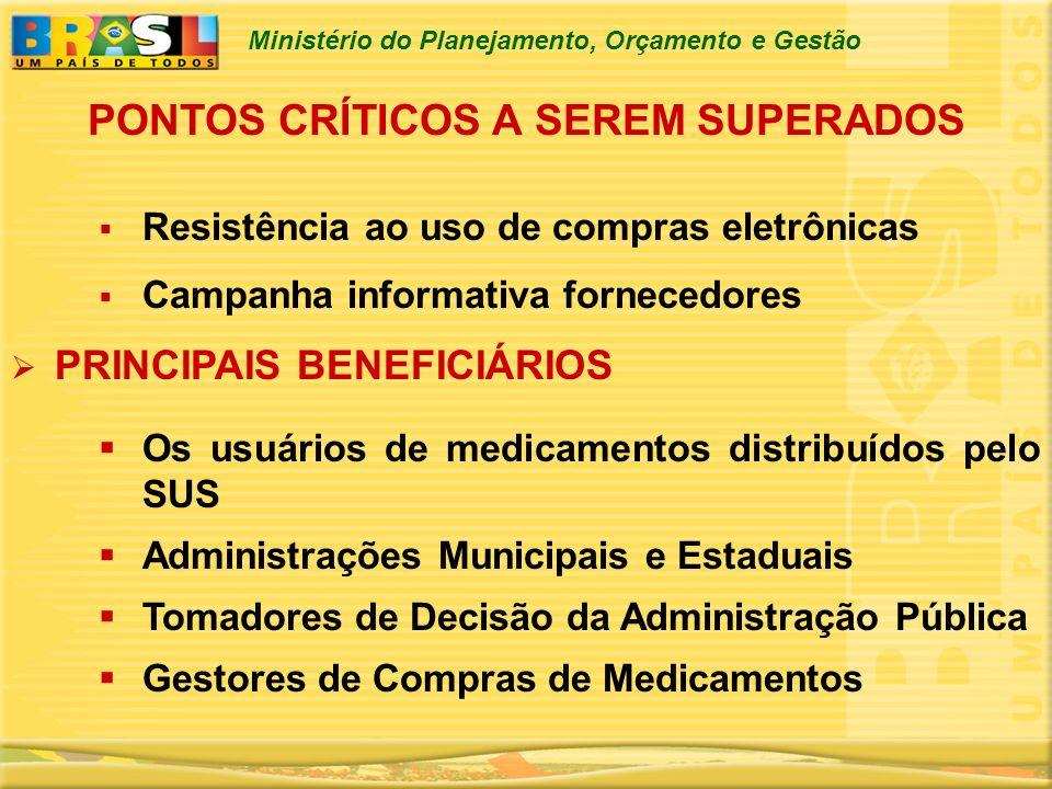 PONTOS CRÍTICOS A SEREM SUPERADOS