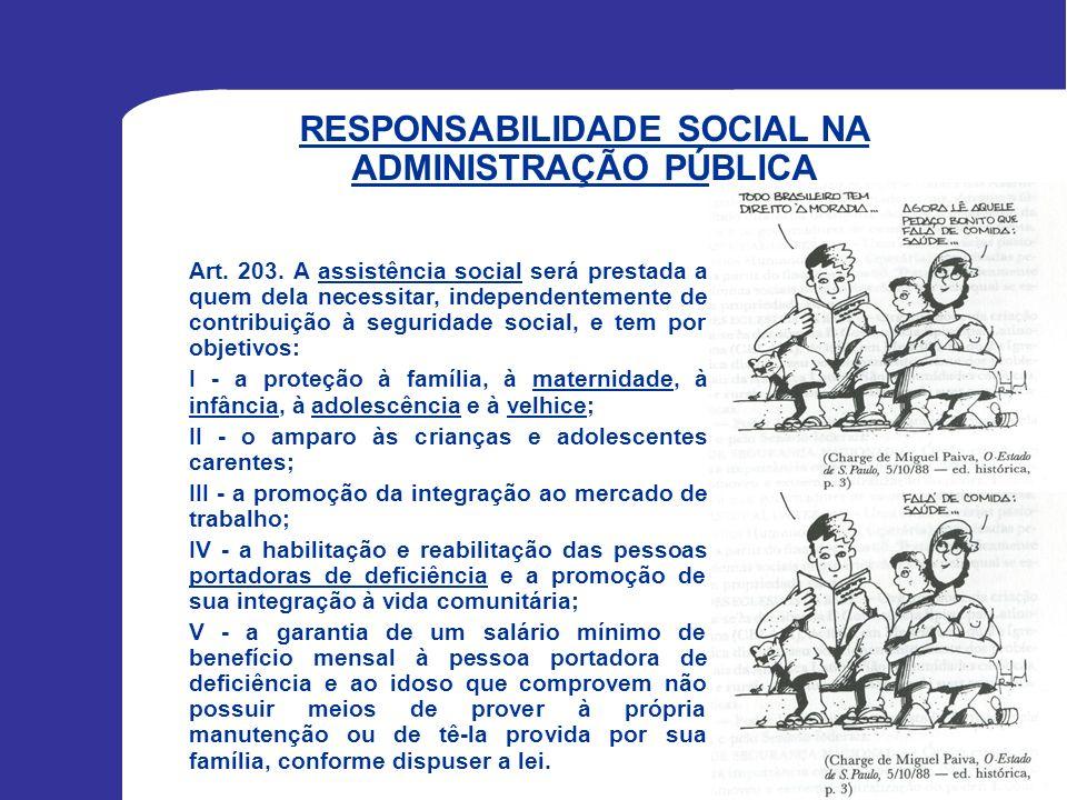 RESPONSABILIDADE SOCIAL NA ADMINISTRAÇÃO PÚBLICA