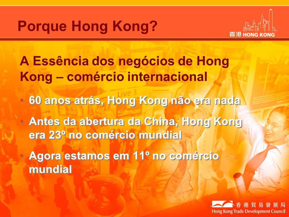A Essência dos negócios de Hong Kong – comércio internacional