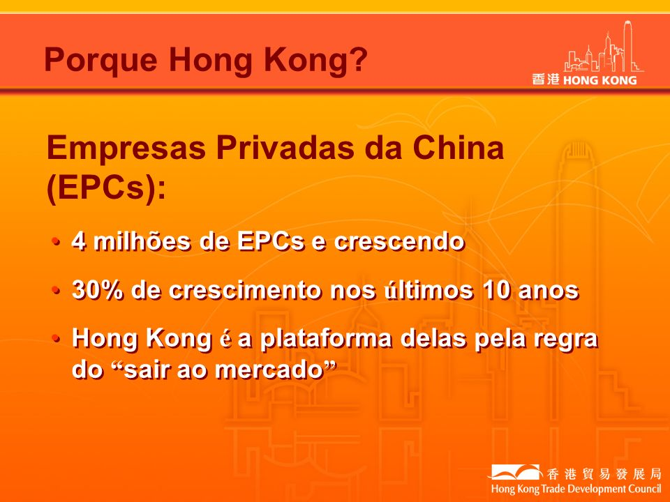 Empresas Privadas da China (EPCs):