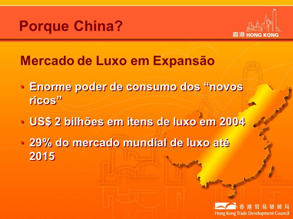 Porque China Mercado de Luxo em Expansão