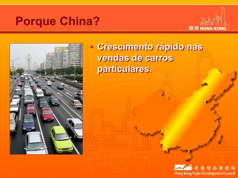 Porque China Crescimento rápido nas vendas de carros particulares.