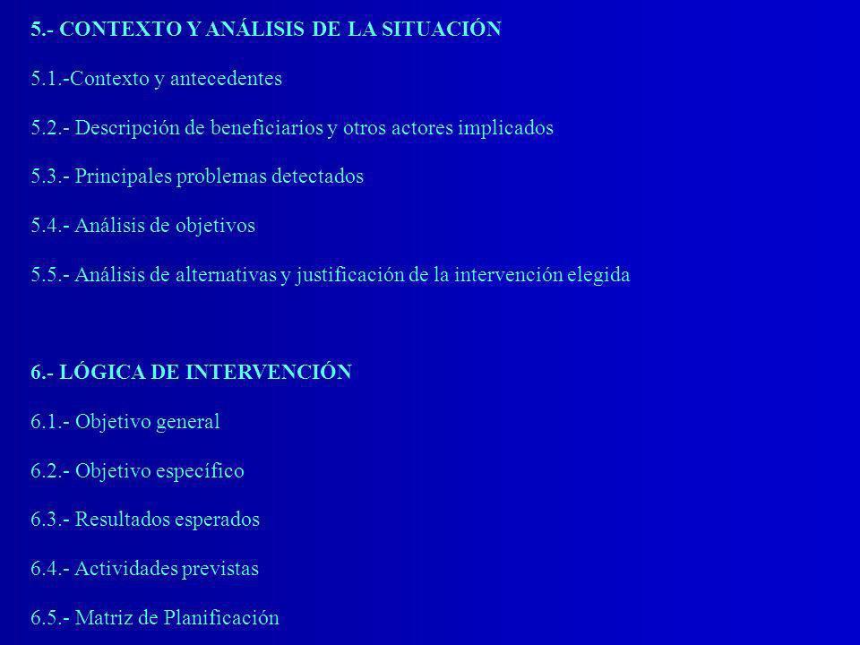 5.- CONTEXTO Y ANÁLISIS DE LA SITUACIÓN