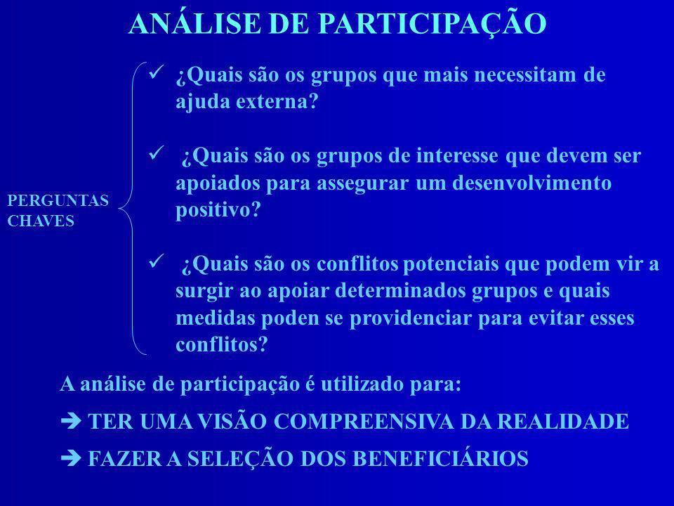 ANÁLISE DE PARTICIPAÇÃO