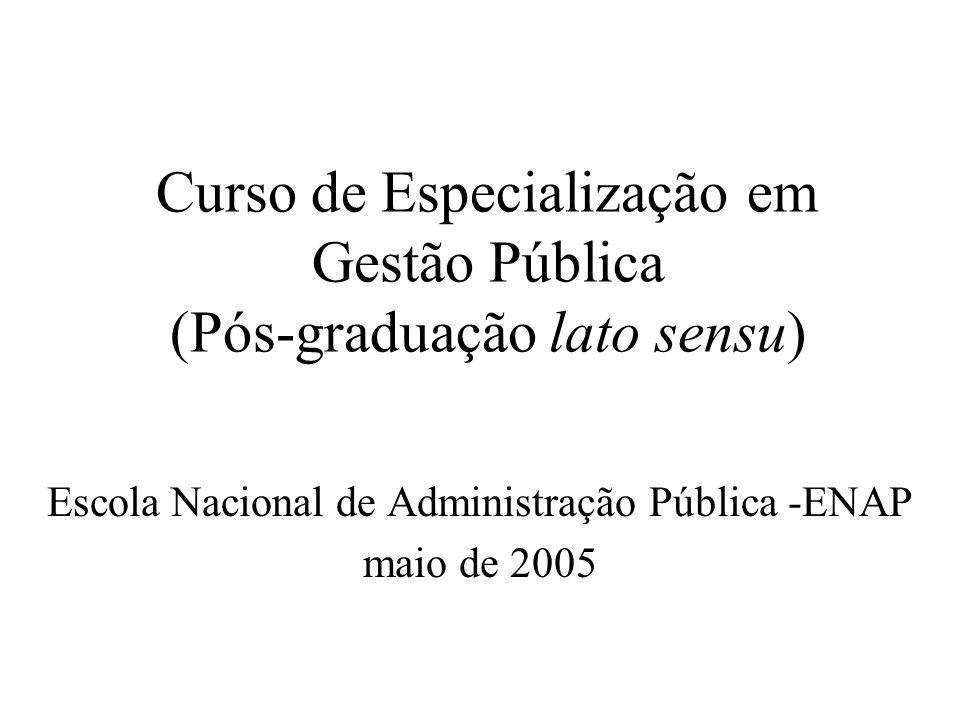 Curso de Especialização em Gestão Pública (Pós-graduação lato sensu)