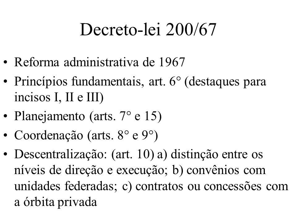 Decreto-lei 200/67 Reforma administrativa de 1967
