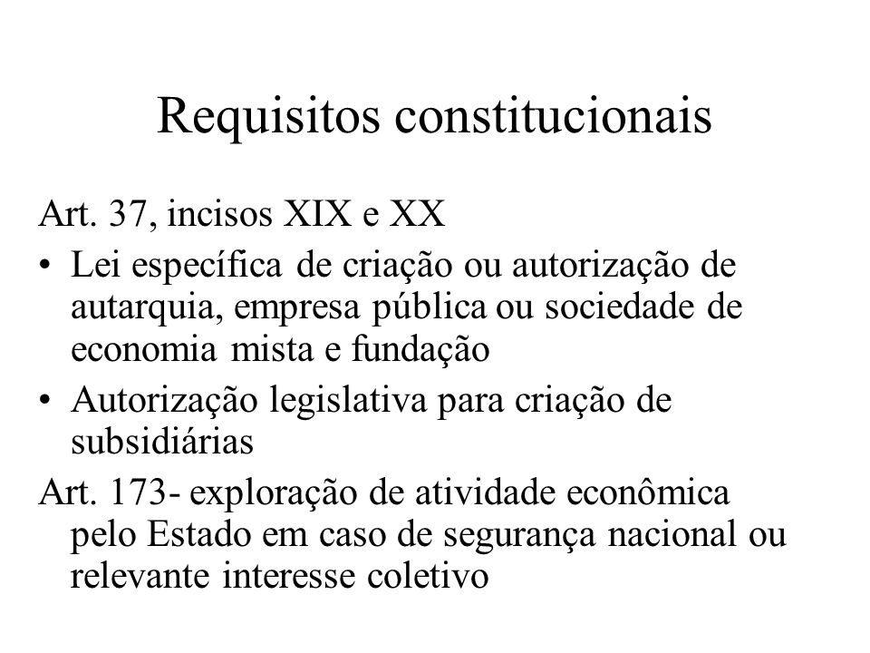 Requisitos constitucionais