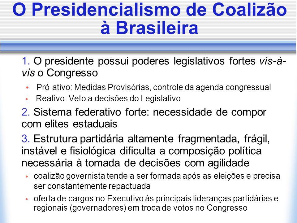 O Presidencialismo de Coalizão à Brasileira