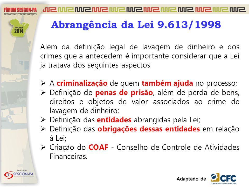 Abrangência da Lei 9.613/1998