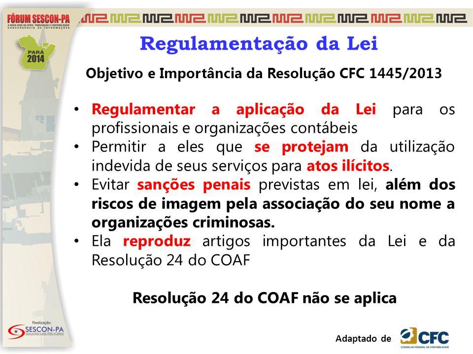 Objetivo e Importância da Resolução CFC 1445/2013