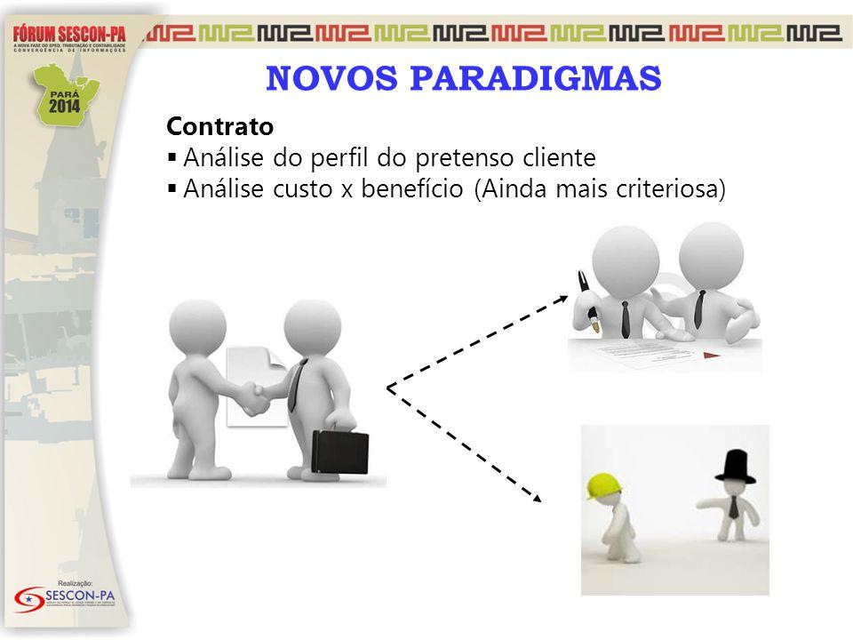 NOVOS PARADIGMAS Contrato Análise do perfil do pretenso cliente