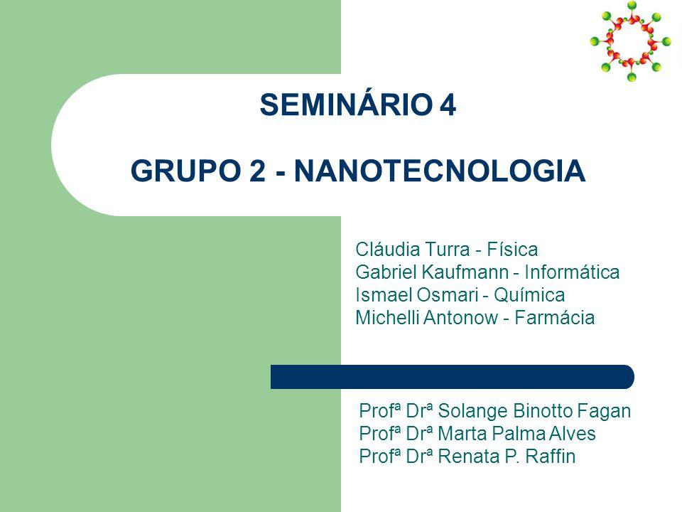 SEMINÁRIO 4 GRUPO 2 - NANOTECNOLOGIA