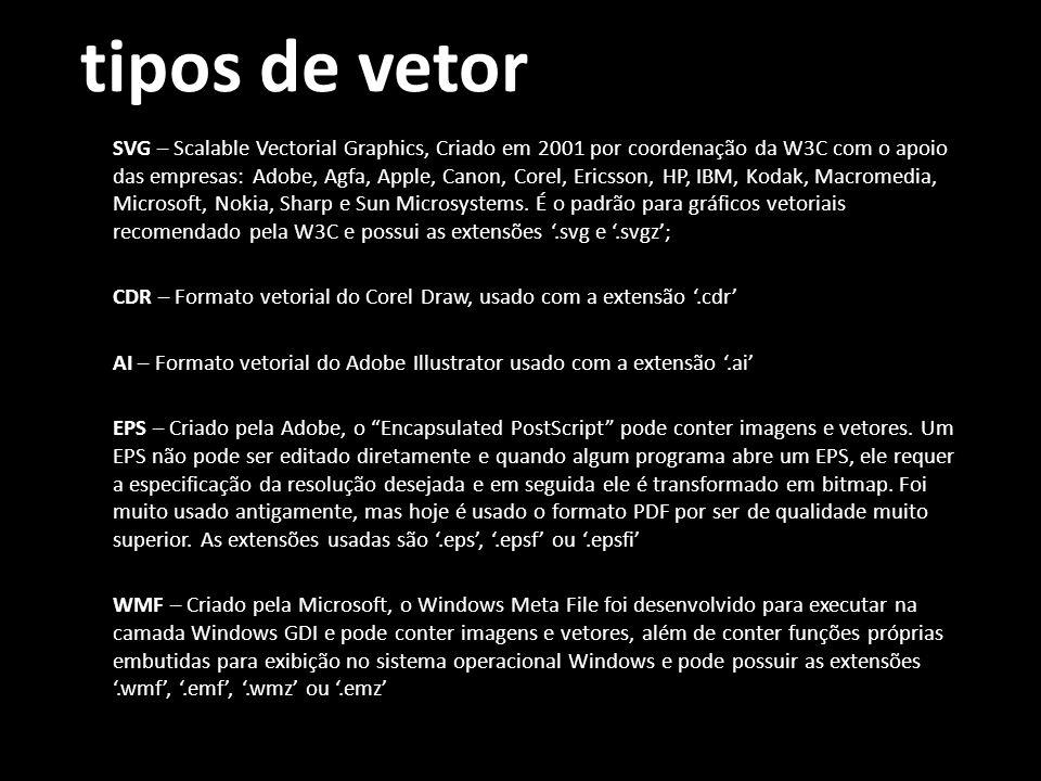 tipos de vetor