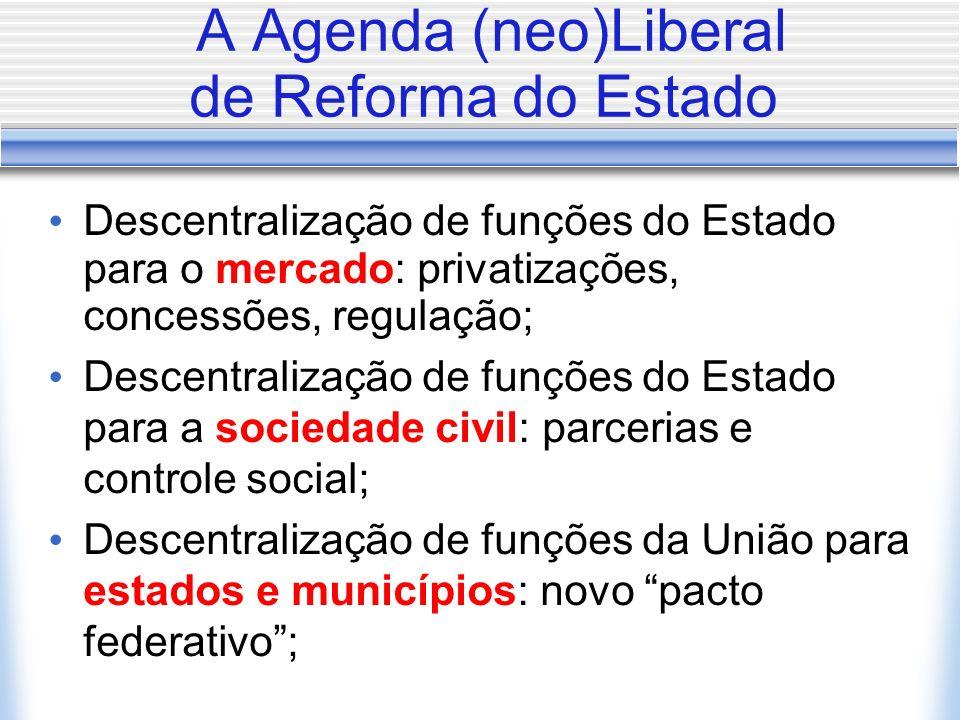 A Agenda (neo)Liberal de Reforma do Estado