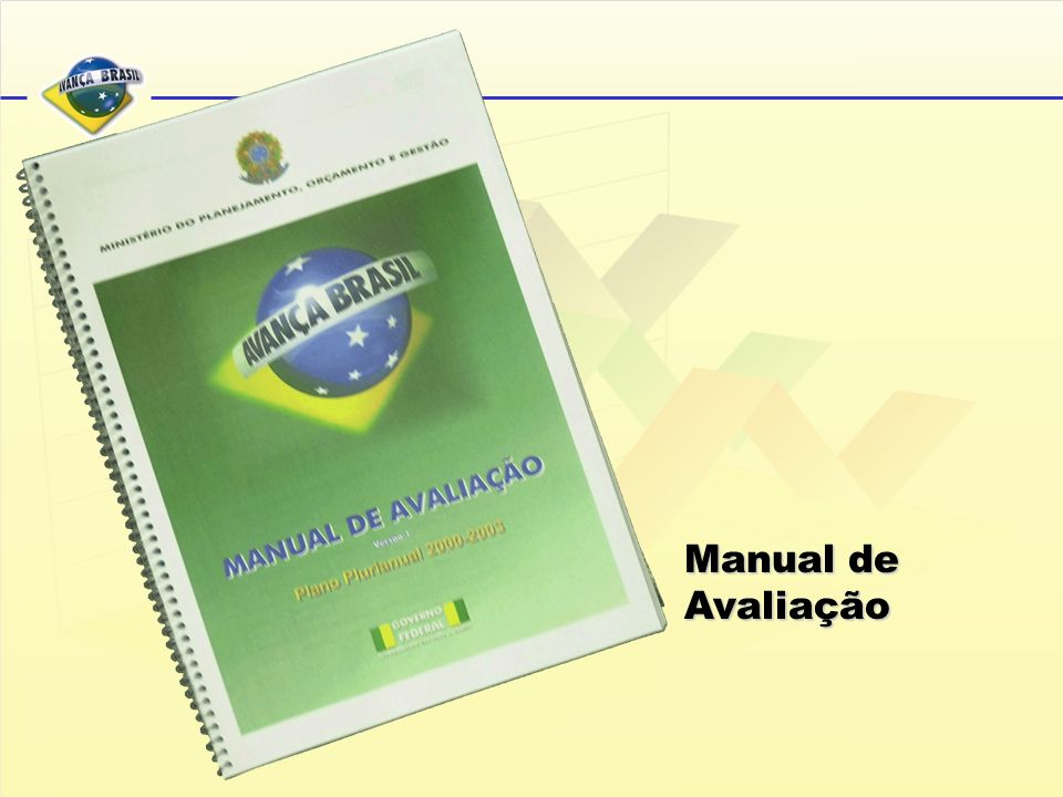 Manual de Avaliação