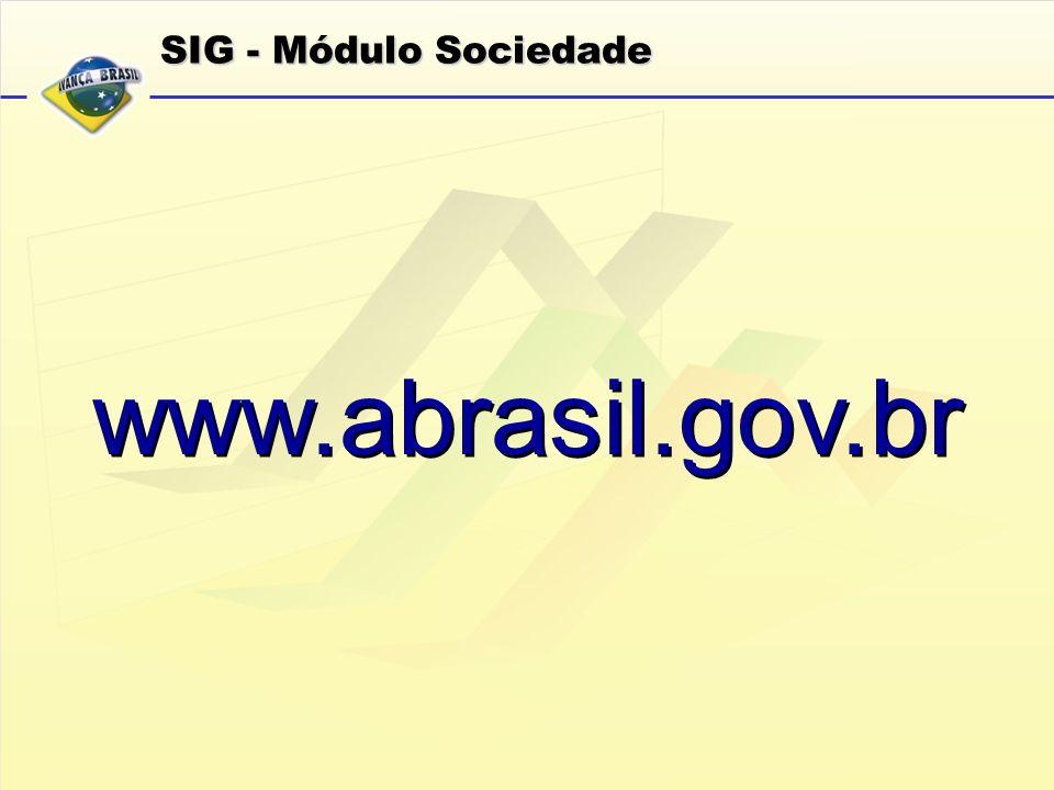 SIG - Módulo Sociedade www.abrasil.gov.br