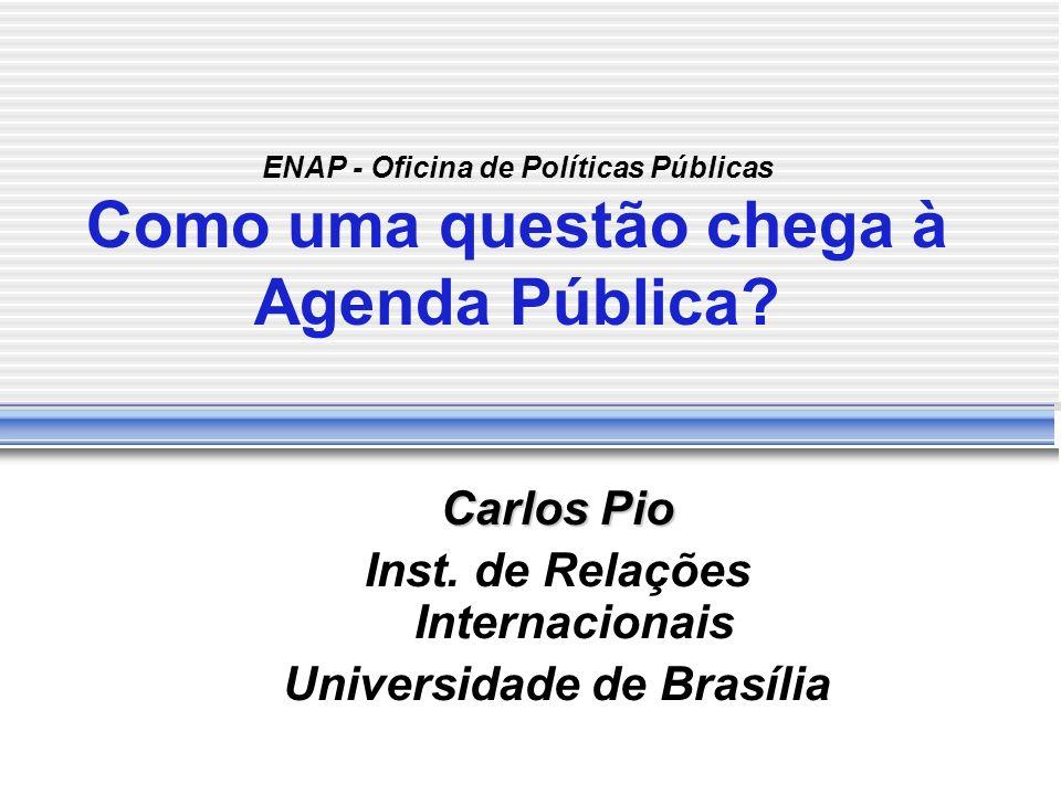 Carlos Pio Inst. de Relações Internacionais Universidade de Brasília