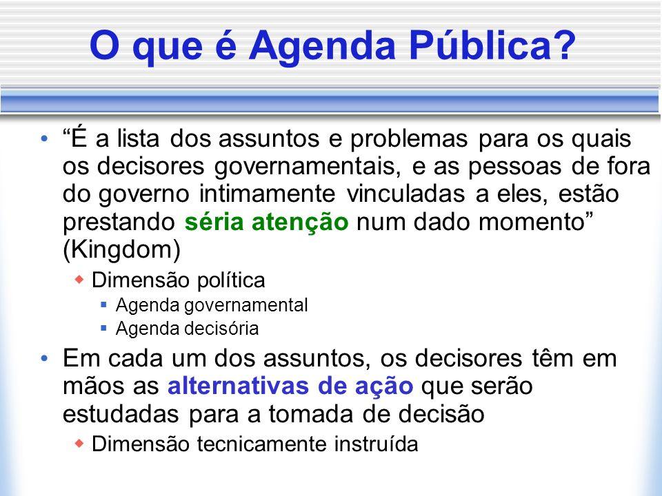 O que é Agenda Pública