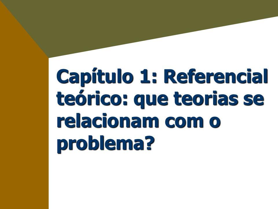 Capítulo 1: Referencial teórico: que teorias se relacionam com o problema
