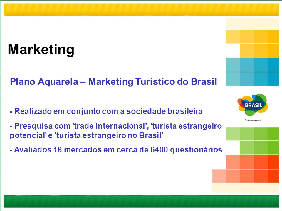 Marketing Plano Aquarela – Marketing Turístico do Brasil