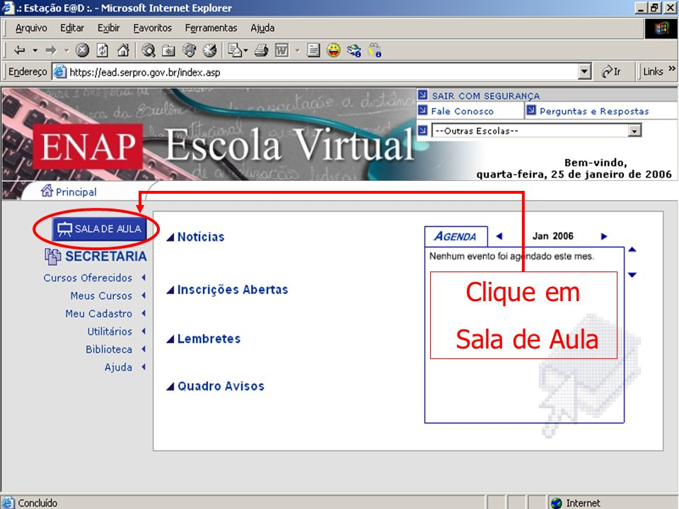 Escola Virtual – Sala de aula