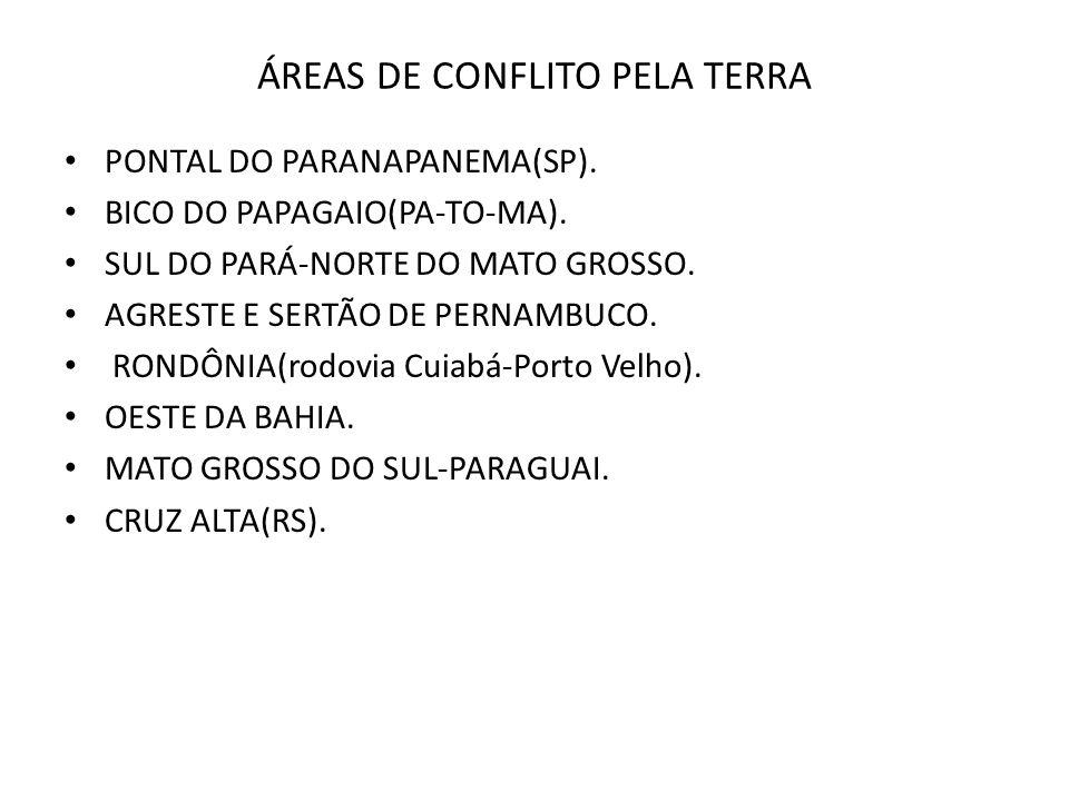 ÁREAS DE CONFLITO PELA TERRA
