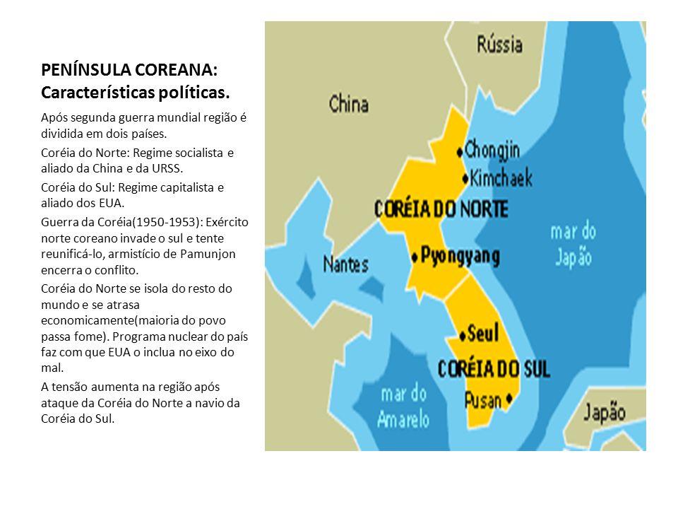 PENÍNSULA COREANA: Características políticas.