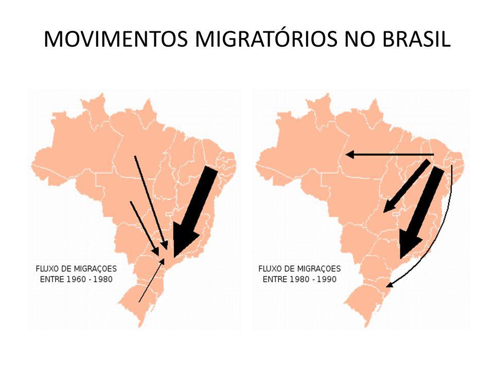 MOVIMENTOS MIGRATÓRIOS NO BRASIL